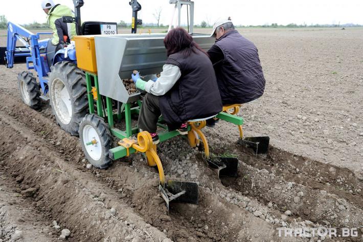 Машини за зеленчуци Двуредов картофосадач с торовнасяне за рътен картоф 4 - Трактор БГ